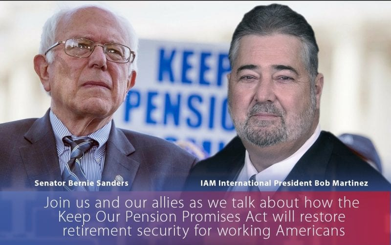 Machinists Union to Join Sen. Sanders in Introducing Pension Protection Bill