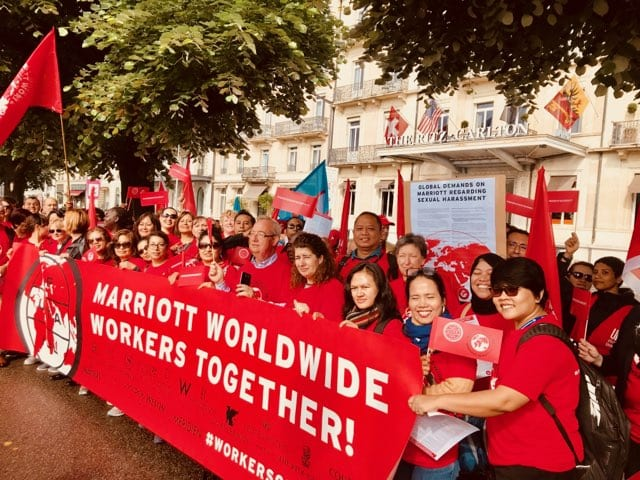 Workers at Marriott
