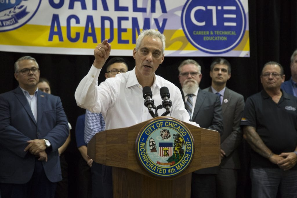 IAM Mechanics Local 701 Joins Vocational Training Partnership with Chicago Mayor Emanuel, Chicago AFL-CIO